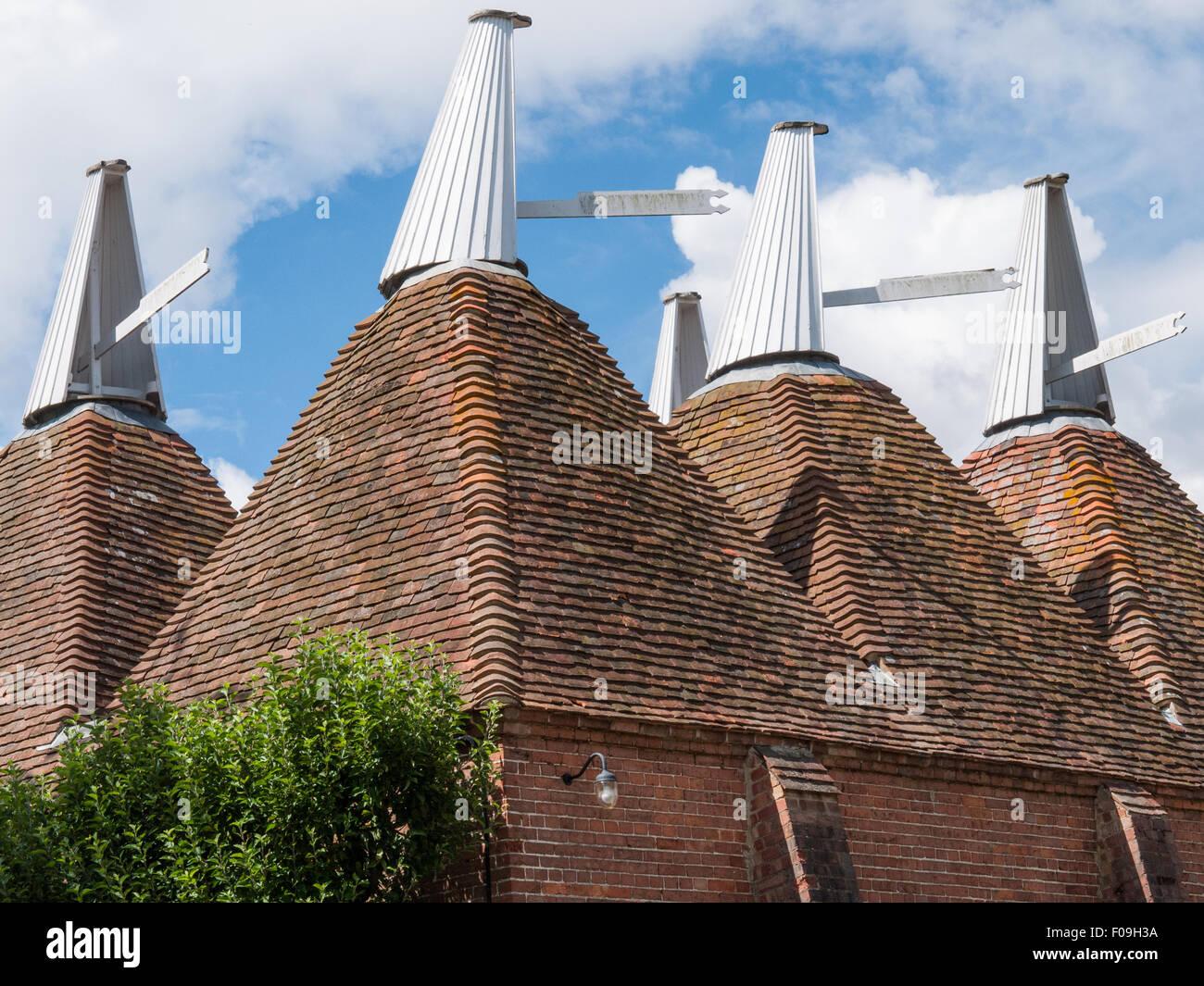 Oast Houses at Sissinghurst Castle, Kent, England - Stock Image