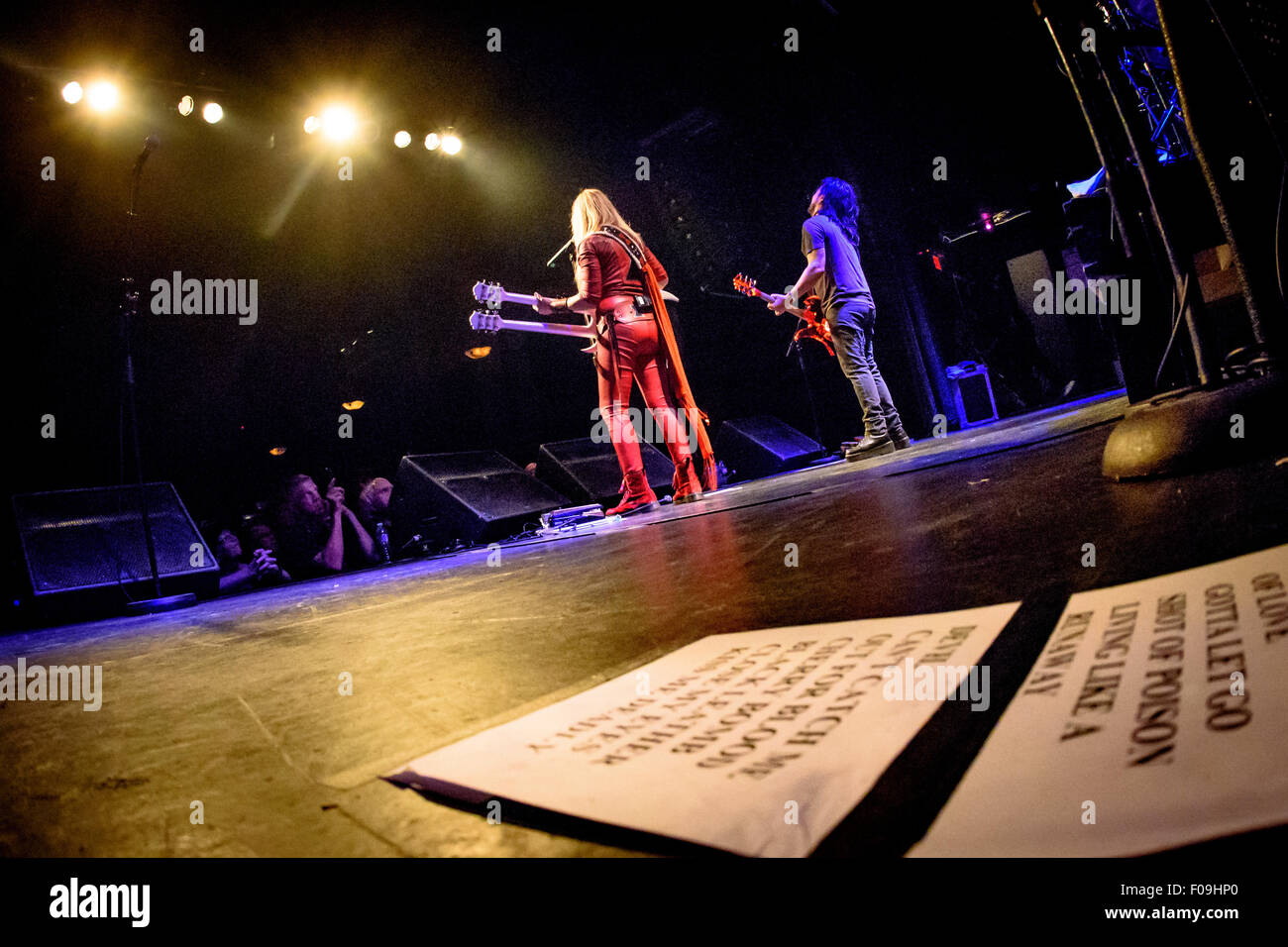 Toronto, Ontario, Canada. 9th Aug, 2015. English-American rock singer/songwriter/guitarist LITA FORD performed a - Stock Image