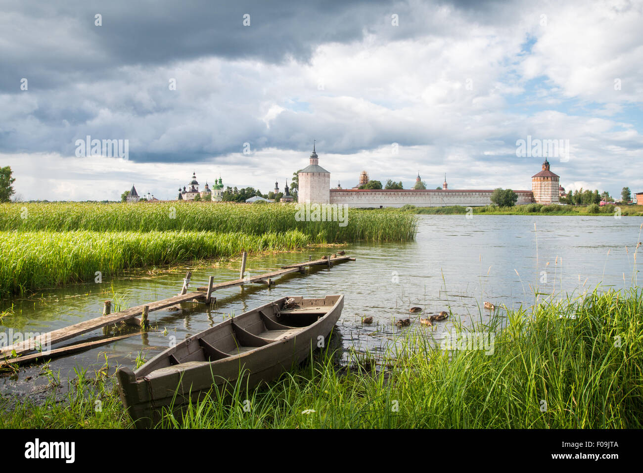 View Cyril Belozersky Monastery sunny summer day Stock Photo