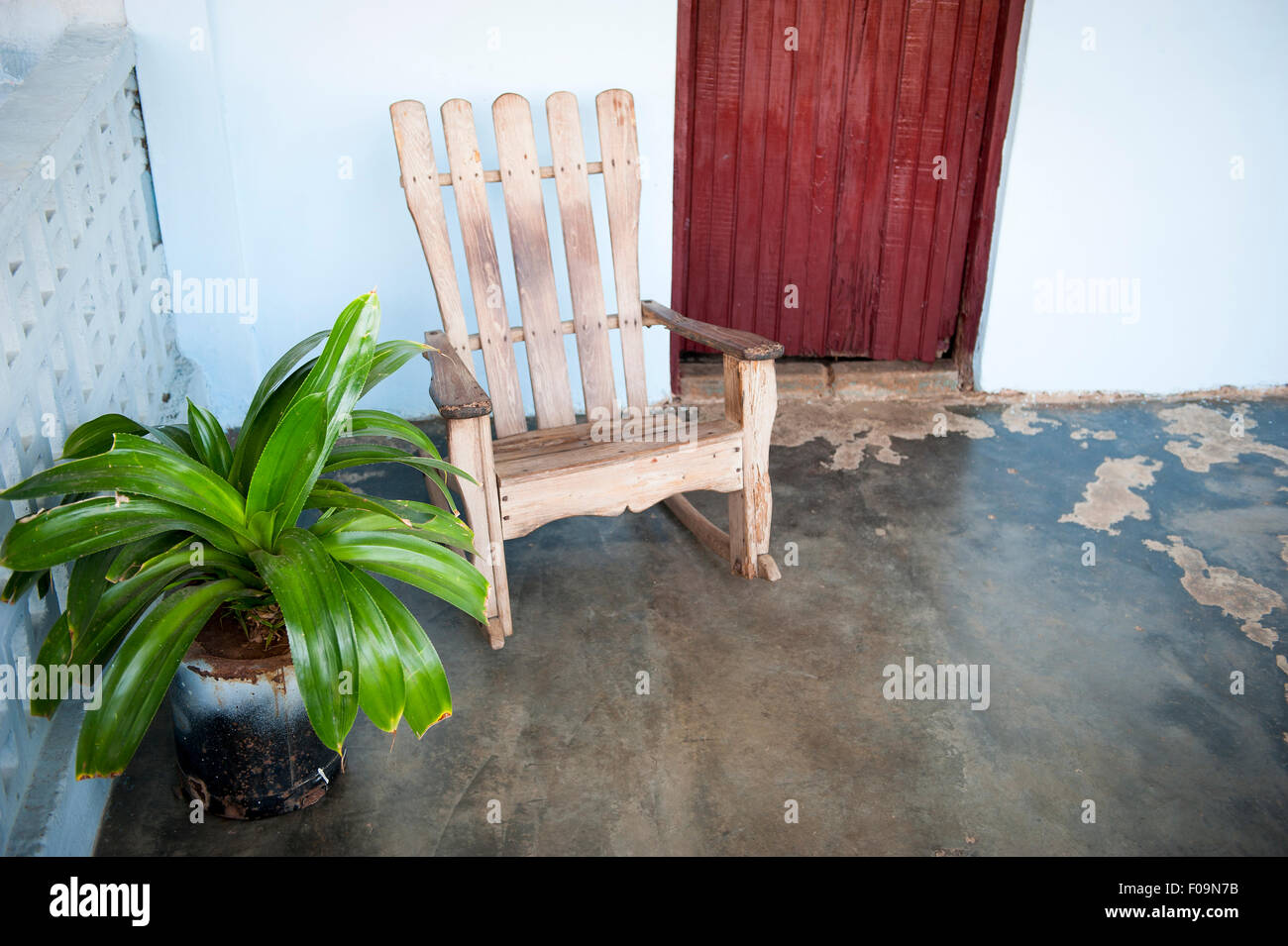 Awe Inspiring Traditional Wooden Rocking Chair On The Rustic Front Porch Ibusinesslaw Wood Chair Design Ideas Ibusinesslaworg