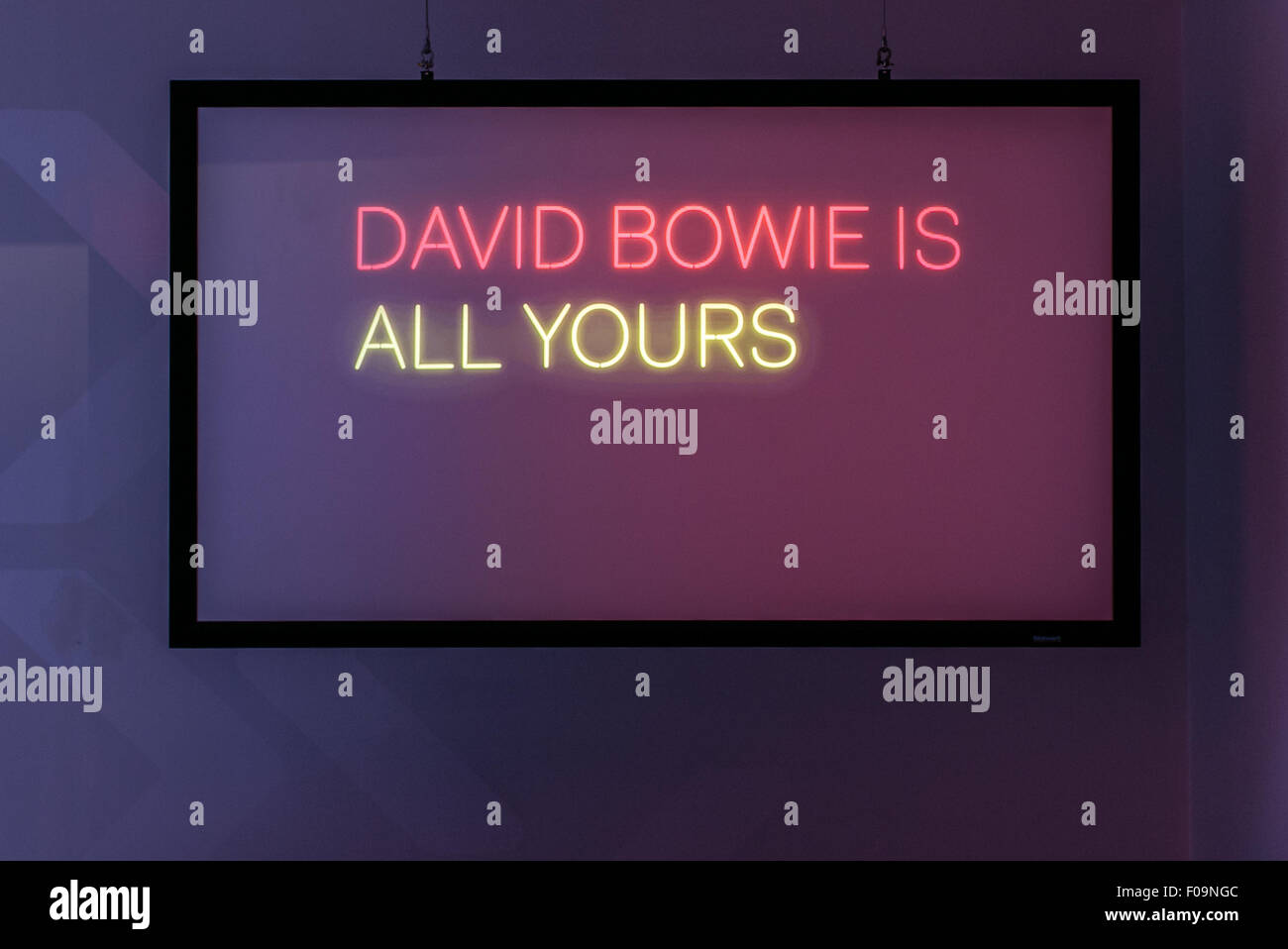 V&A David Bowie Is exhibition at ACMI, Melbourne, Australia - Stock Image