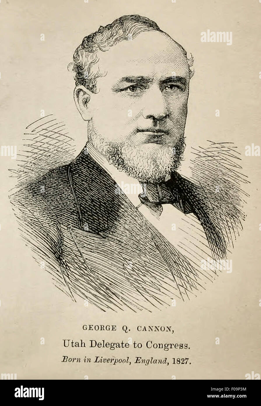 George Q Cannon - Utah Delegate to Congress - Born in Liverpool , England 1827 - Stock Image
