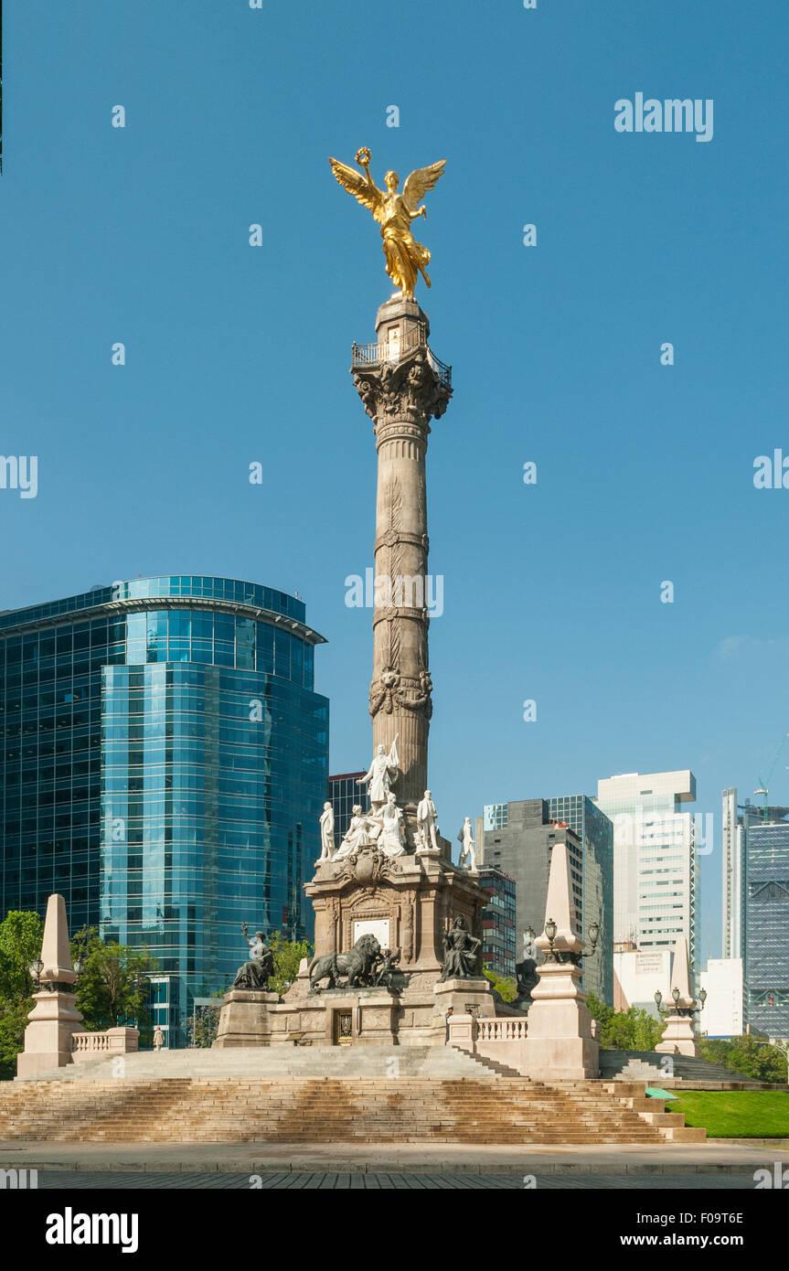 Statue of Angel de la Independencia, Mexico City, Mexico - Stock Image