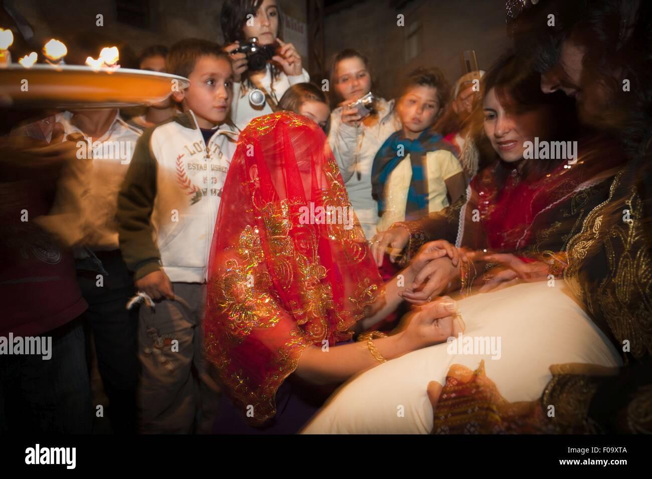 People At Henna Night In Avanos Anatolia Turkey Stock Photo
