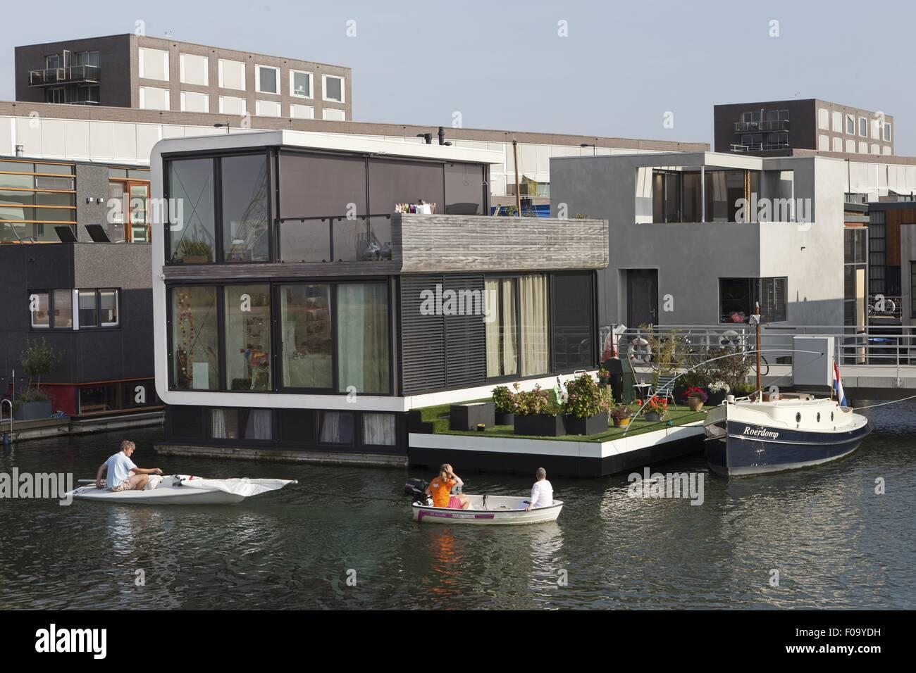 Water Homes In Ijburg, Steigereiland, Amsterdam, Netherlands