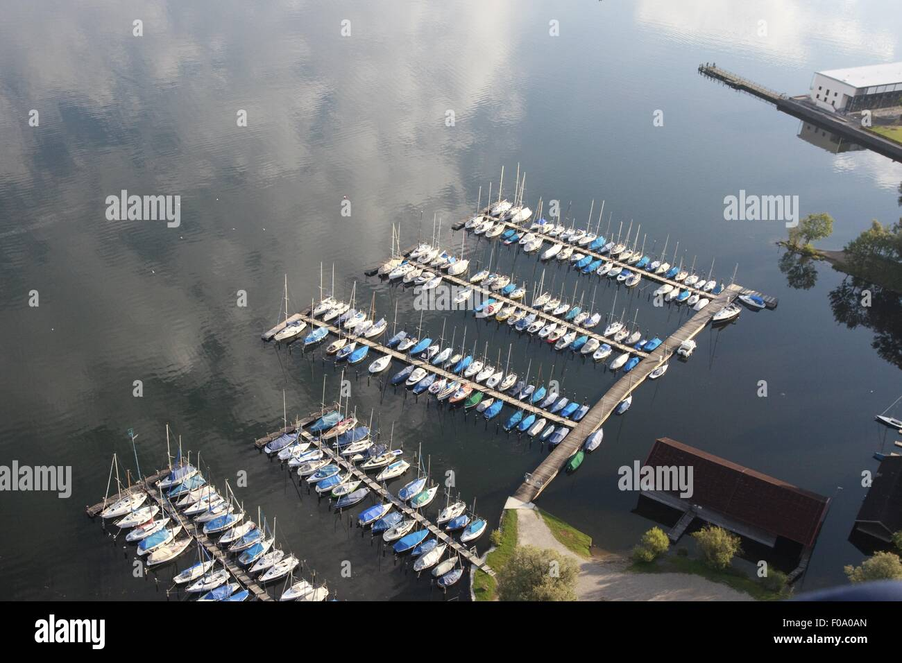8327af92b2c3d Aerial view of boats parked in port at Prienavera