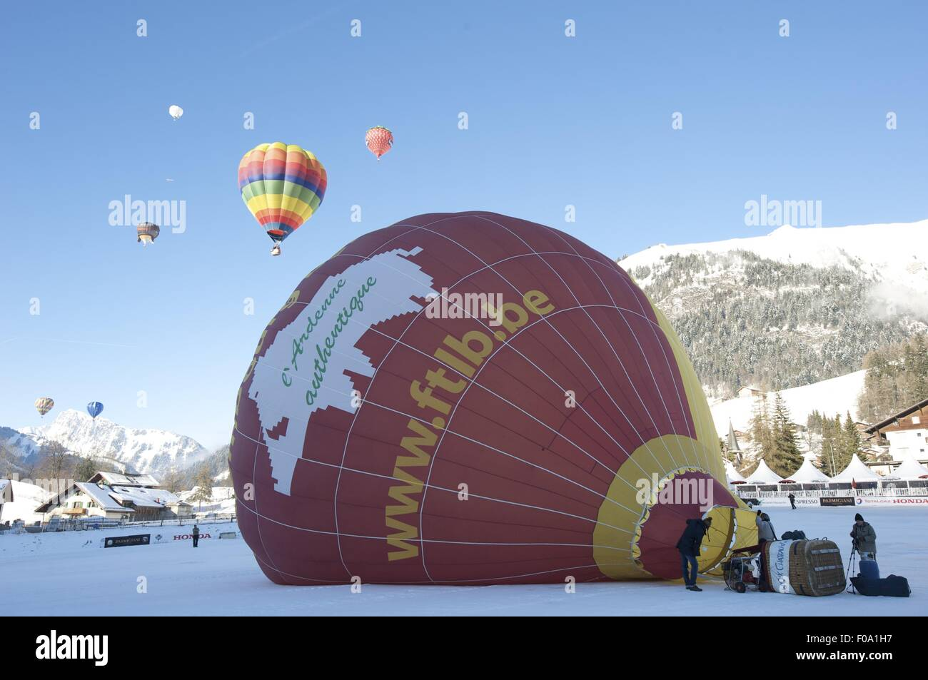 Air Balloon In Chateau DOex Alps Canton Of Vaud Lake Geneva