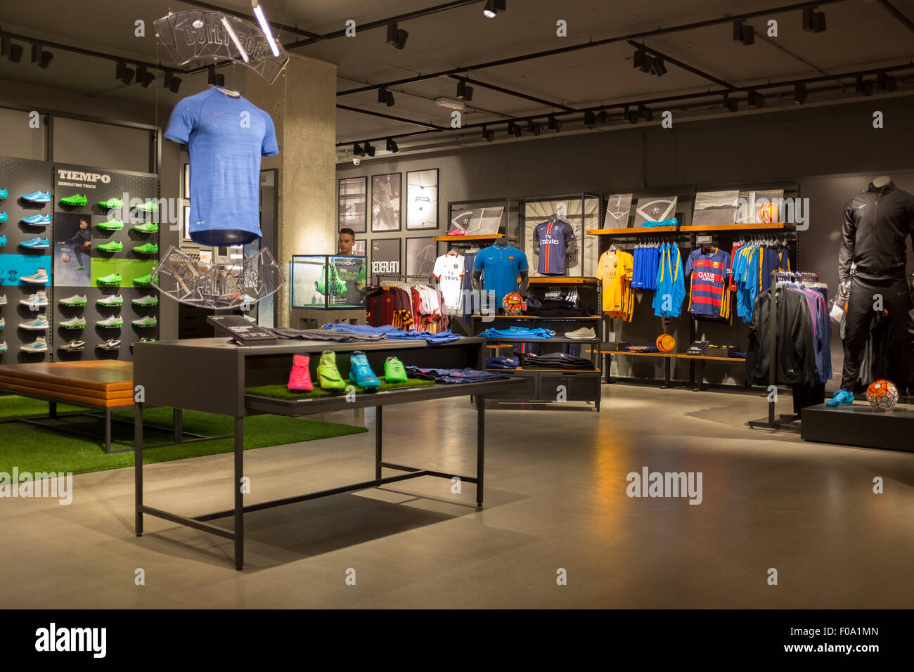 best website 9d3d3 b53b5 Interior of Niketown store in Amsterdam city centre - Stock Image