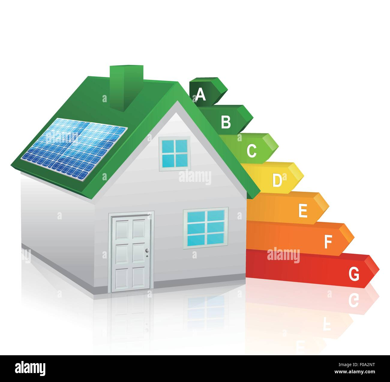 Green energy home - Stock Vector