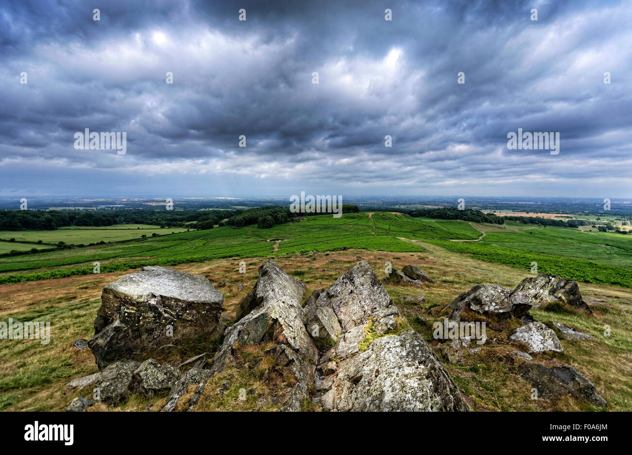 Bradgate Park is a public park in Charnwood Forest, in Leicestershire, England, northwest of Leicester. - Stock Image
