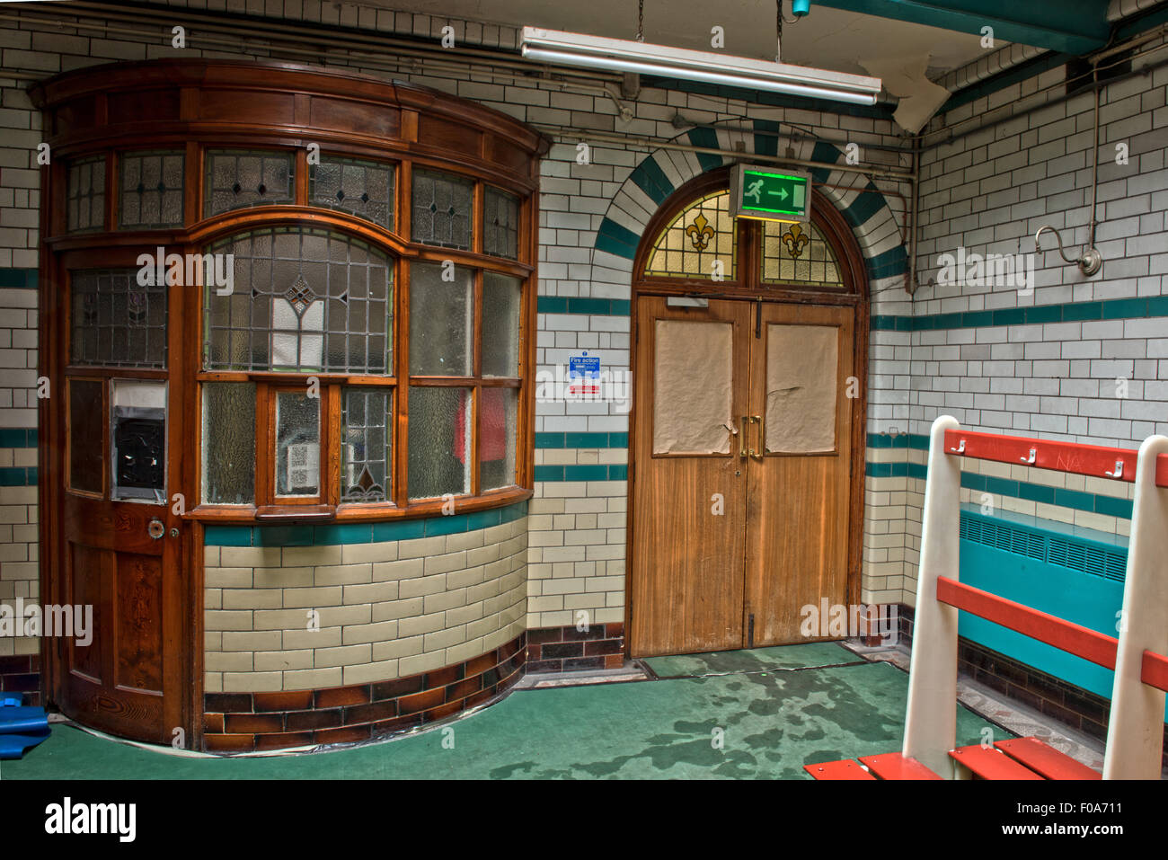 Well preserved slipper baths within Moseley Road Swimming Baths, Balsall Heath, Birmingham, UK - Stock Image