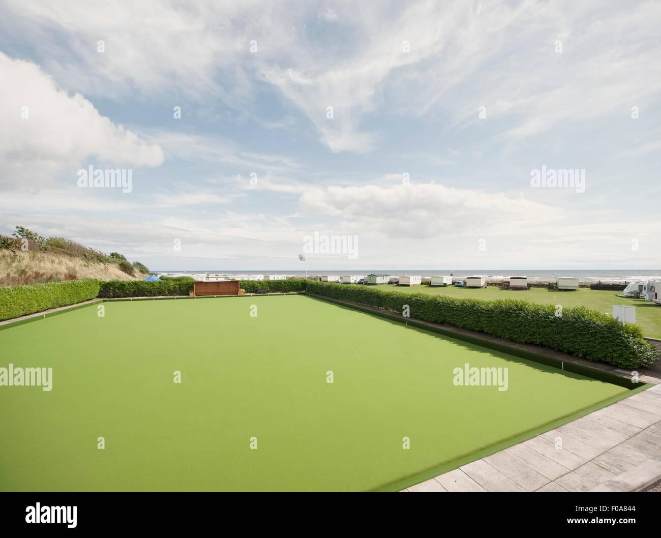 Bowling green, Stonehaven, Scotland - Stock Image