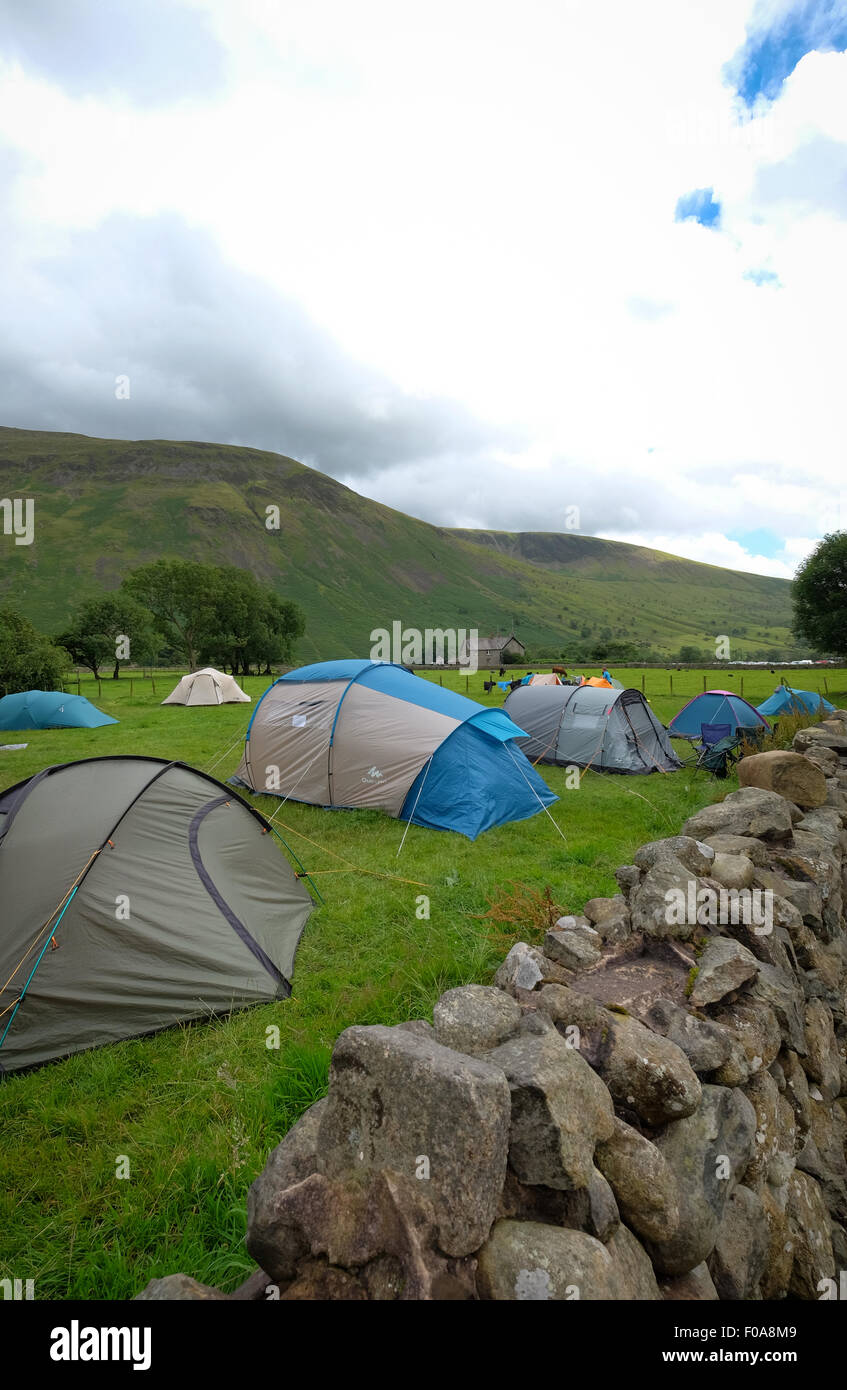 Wasdale Head camping campsite at Wasdale Head in the Lake District, Cumbria, UK - Stock Image