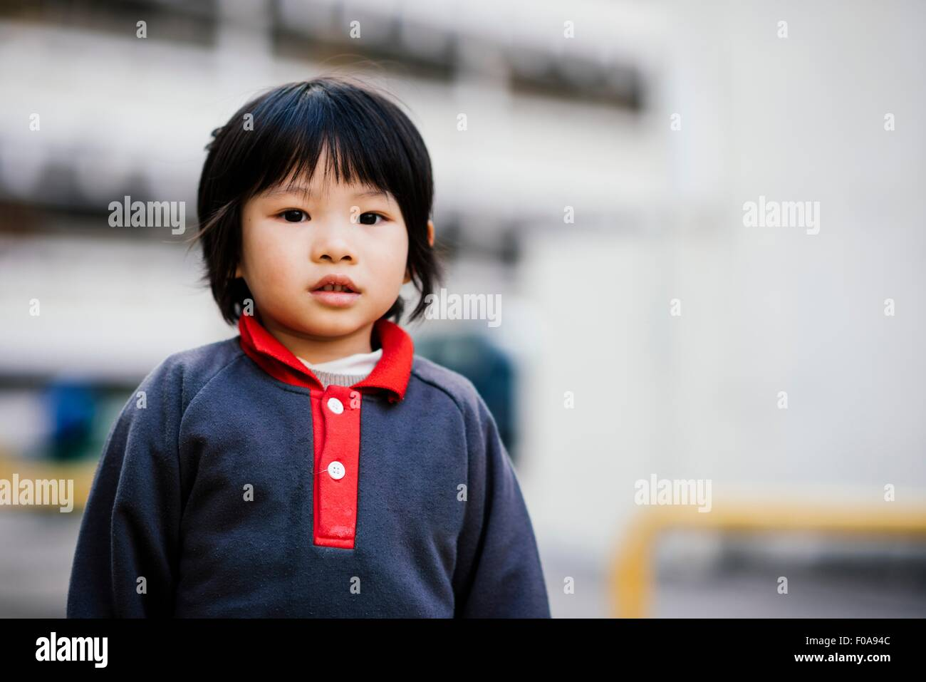 Portrait of boy looking at camera Stock Photo