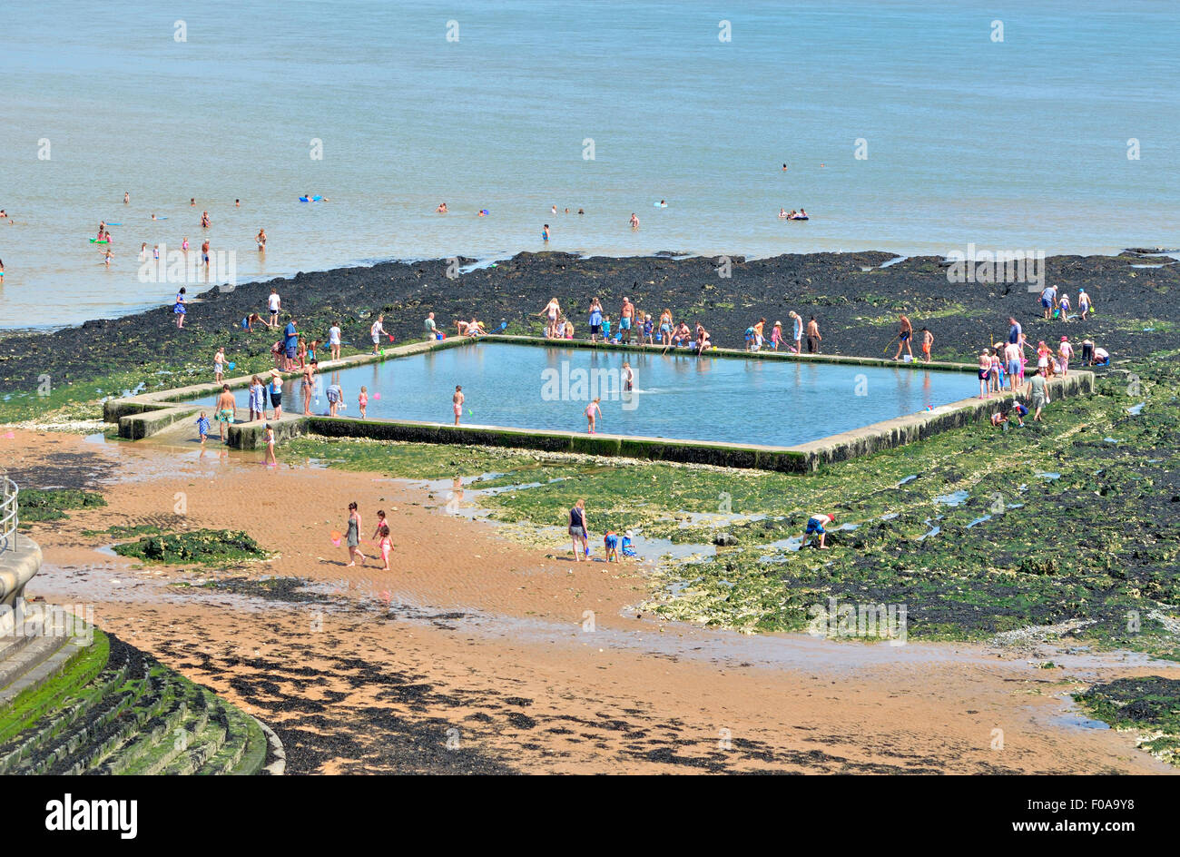 Man Made Sea Pools By Beach