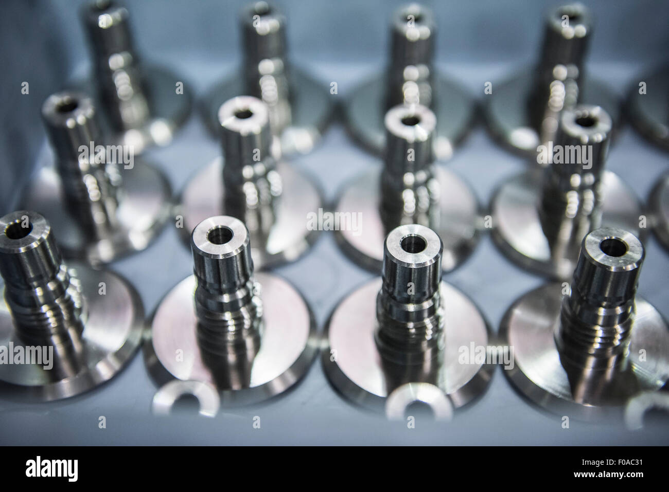 Close up view of engineered parts detail - Stock Image
