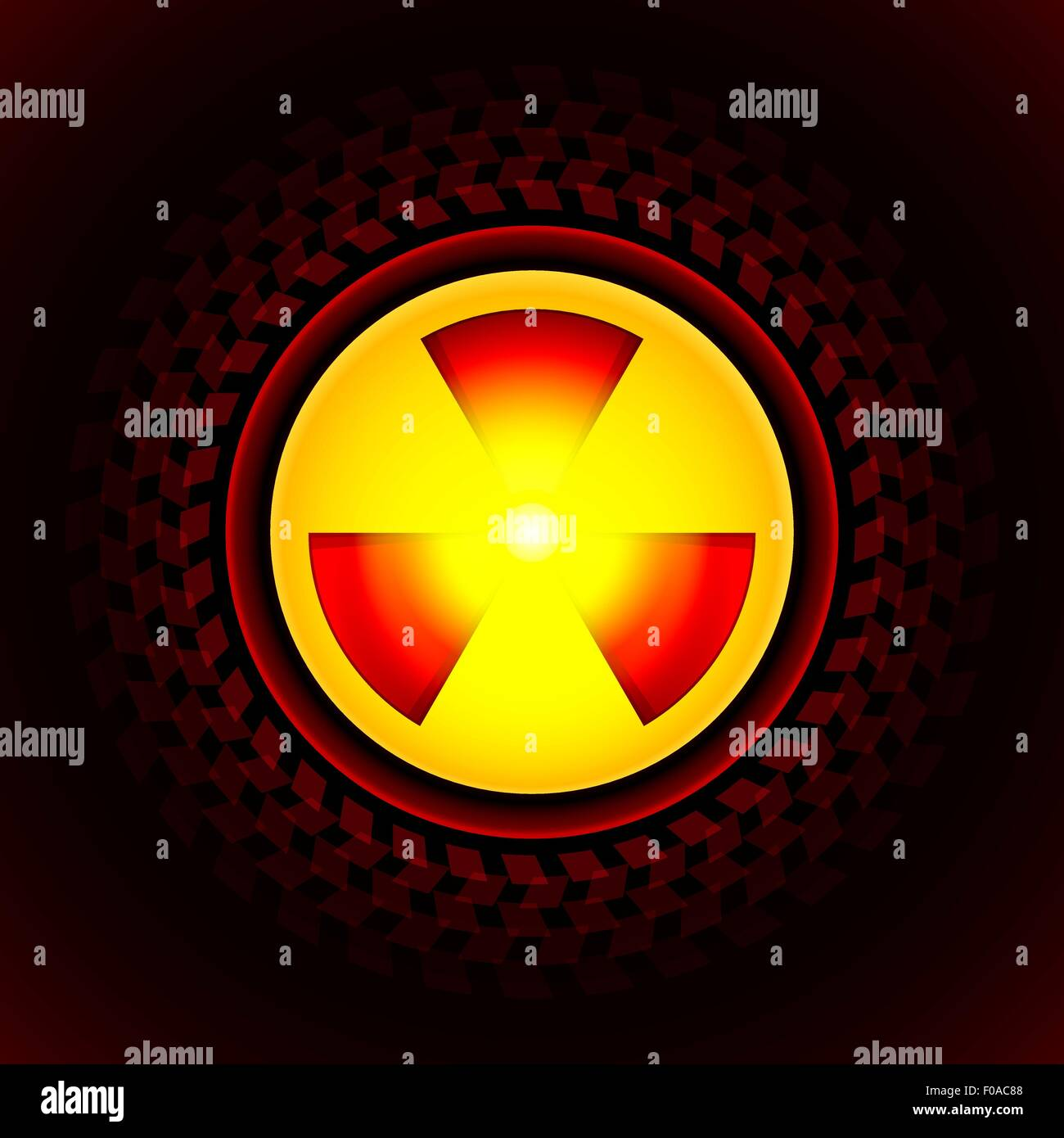 sign of radiation - Stock Vector
