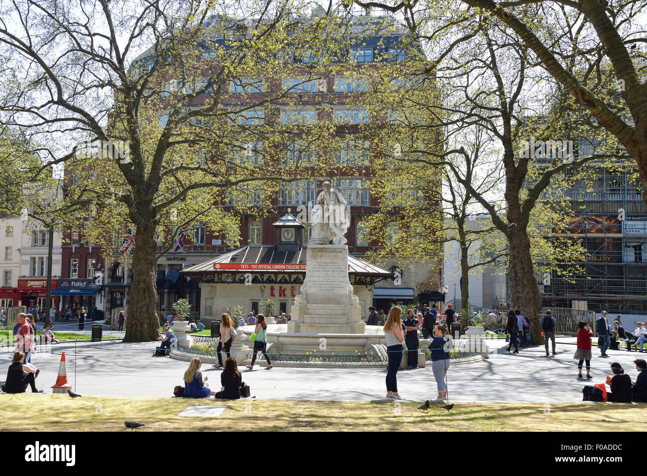 The Shakespeare Fountain, Gardens Square, Leicester Square, West End, City of Westminster, London, England, United - Stock Image