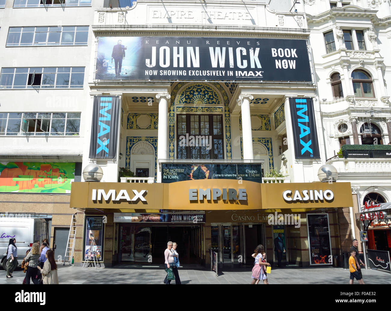 Empire Leicester Square Cinema and Casino, Leicester Square, West End, City of Westminster, London, England, United - Stock Image
