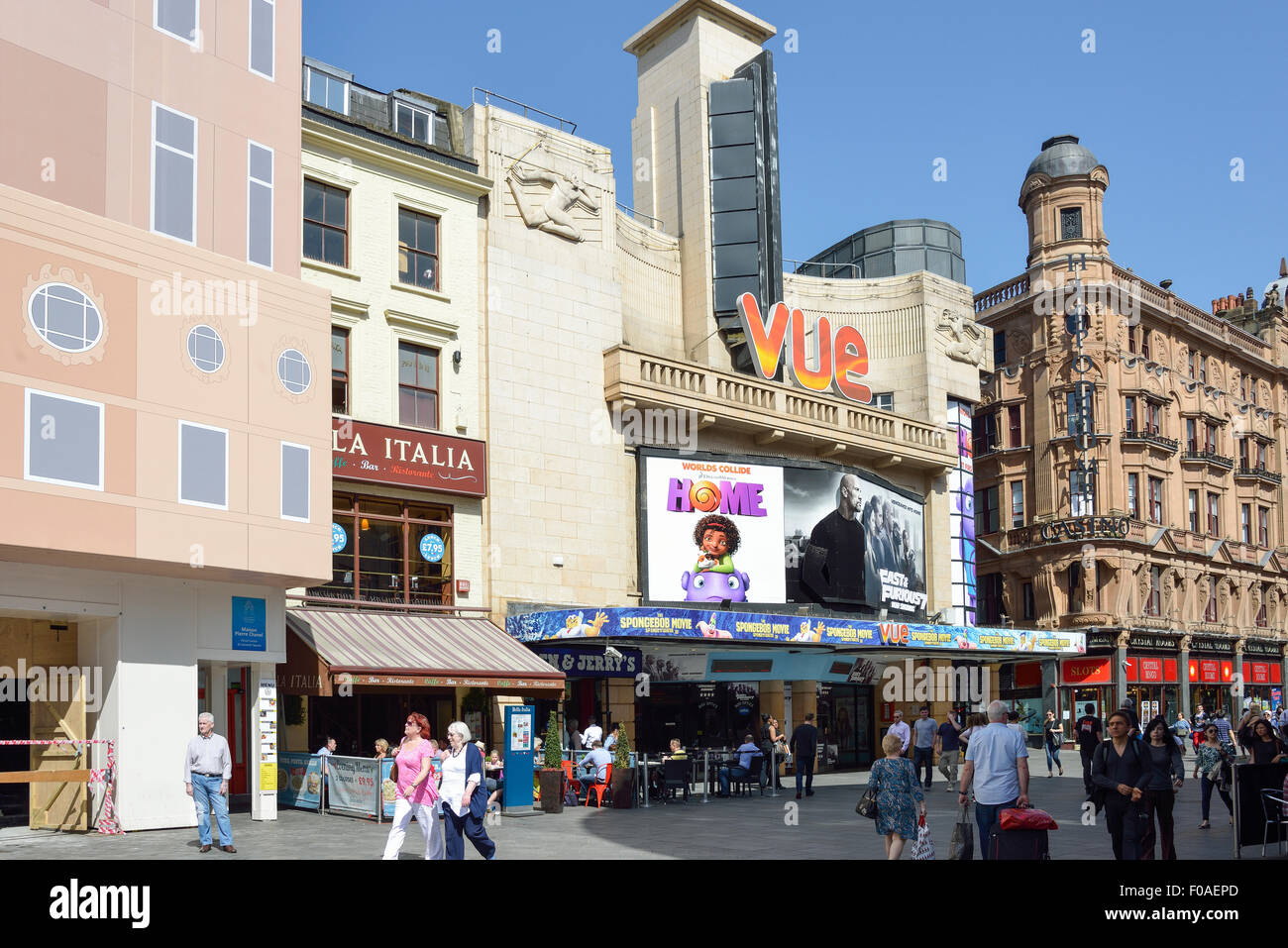 Vue Cinema, Leicester Square, West End, City of Westminster, London, England, United Kingdom - Stock Image