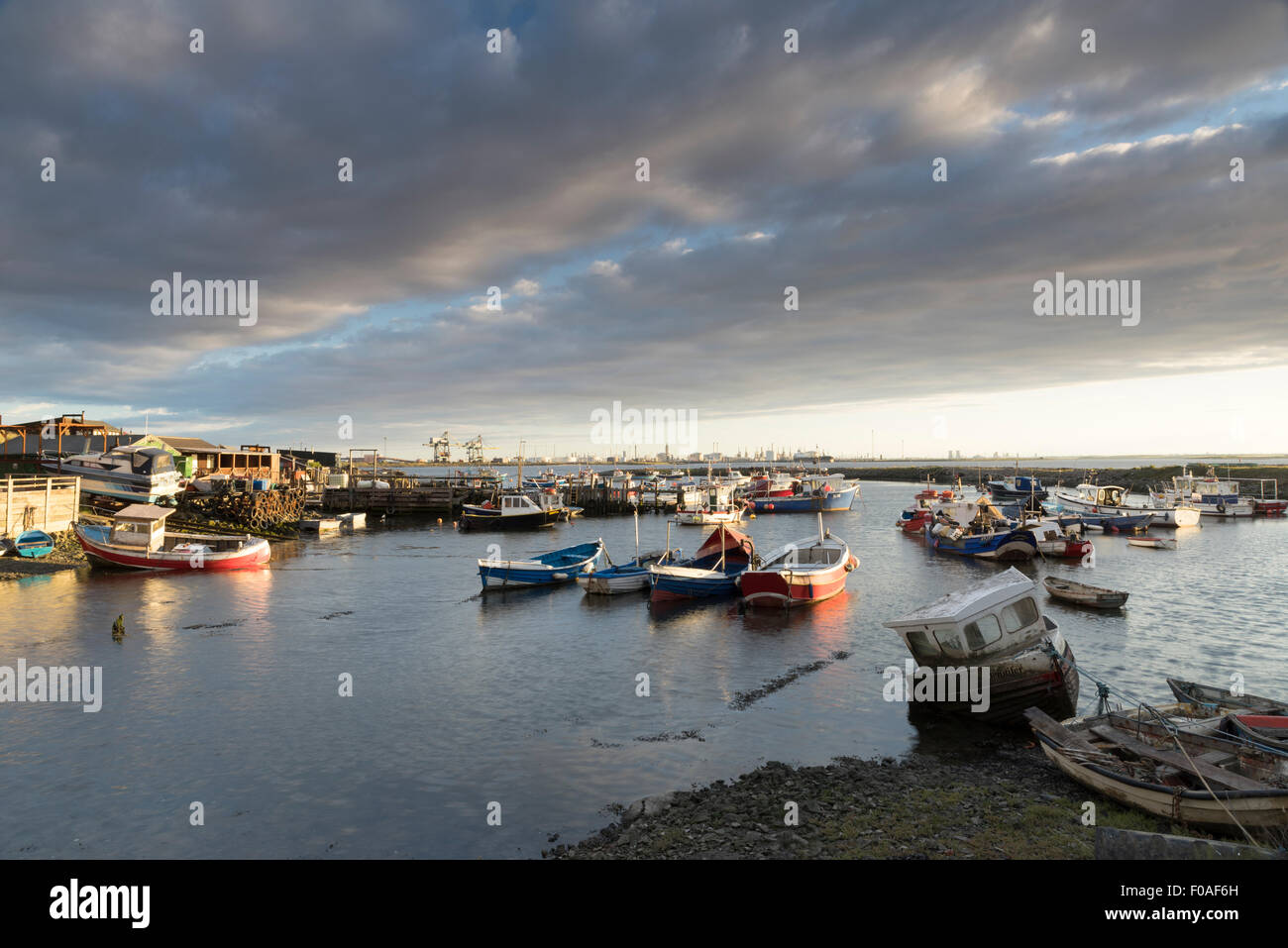 Paddy's Hole at South Gare, Redcar, Cleveland, August 2015. - Stock Image