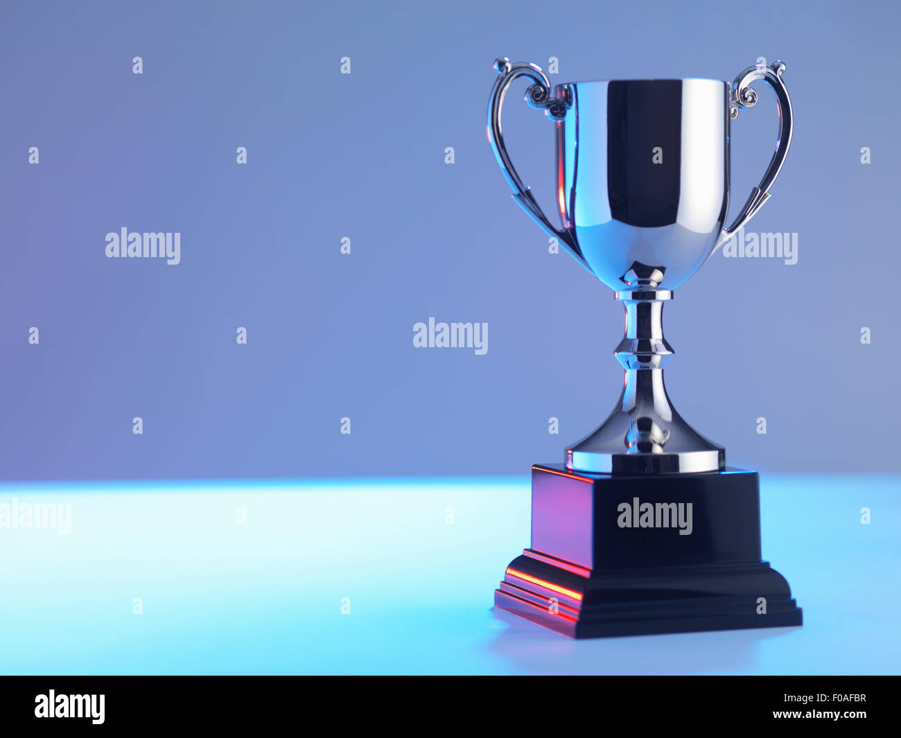 Trophy at award ceremony - Stock Image