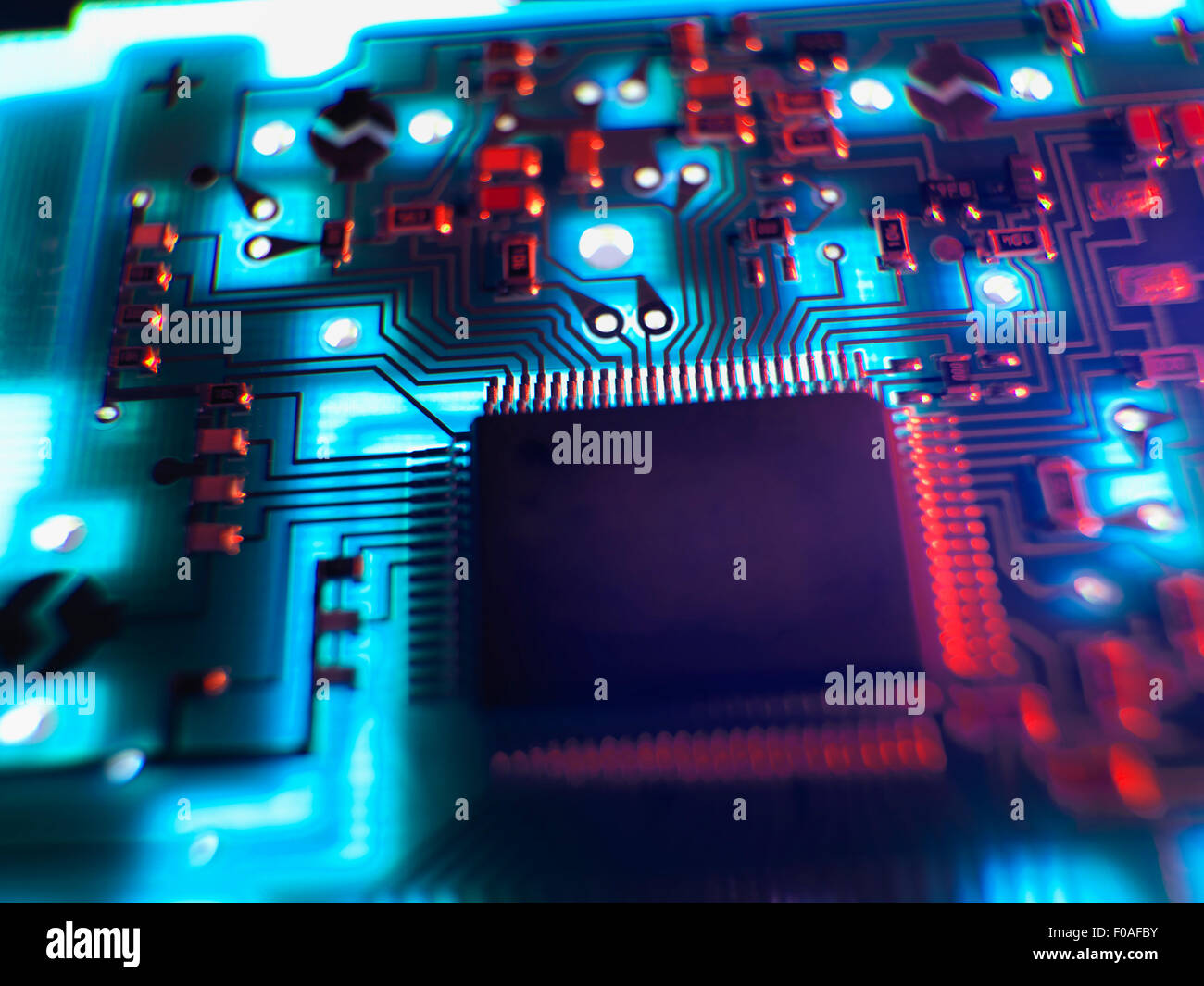 Closeup Of Printed Circuit Board Connector Stock Image T356 0282 ...