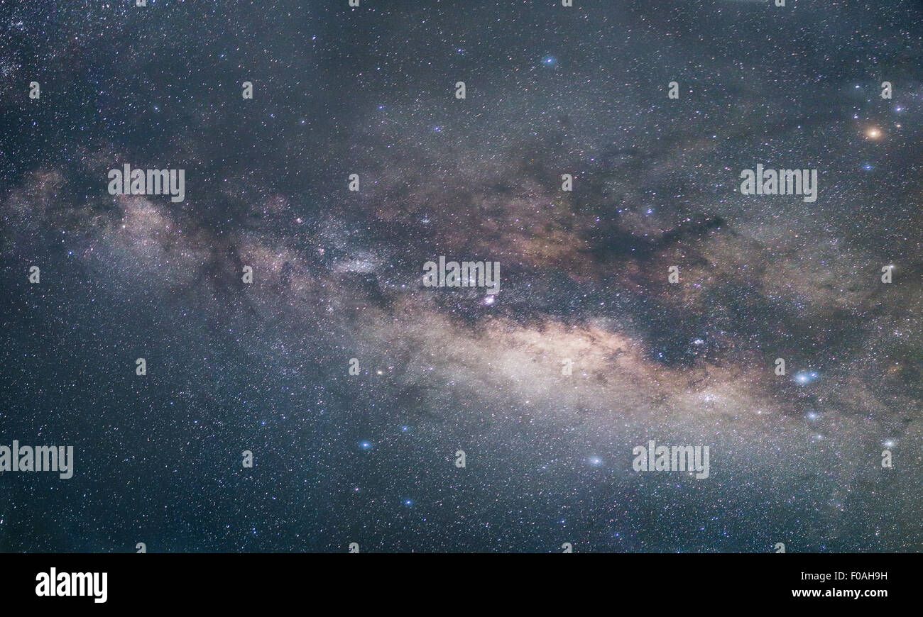 The Milky Way galaxy. From Pa Hin Ngam National Park. Chaiyaphum Thailand - Stock Image