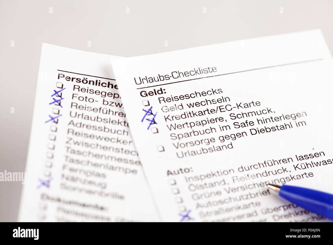 travel checklist stock photos travel checklist stock images alamy