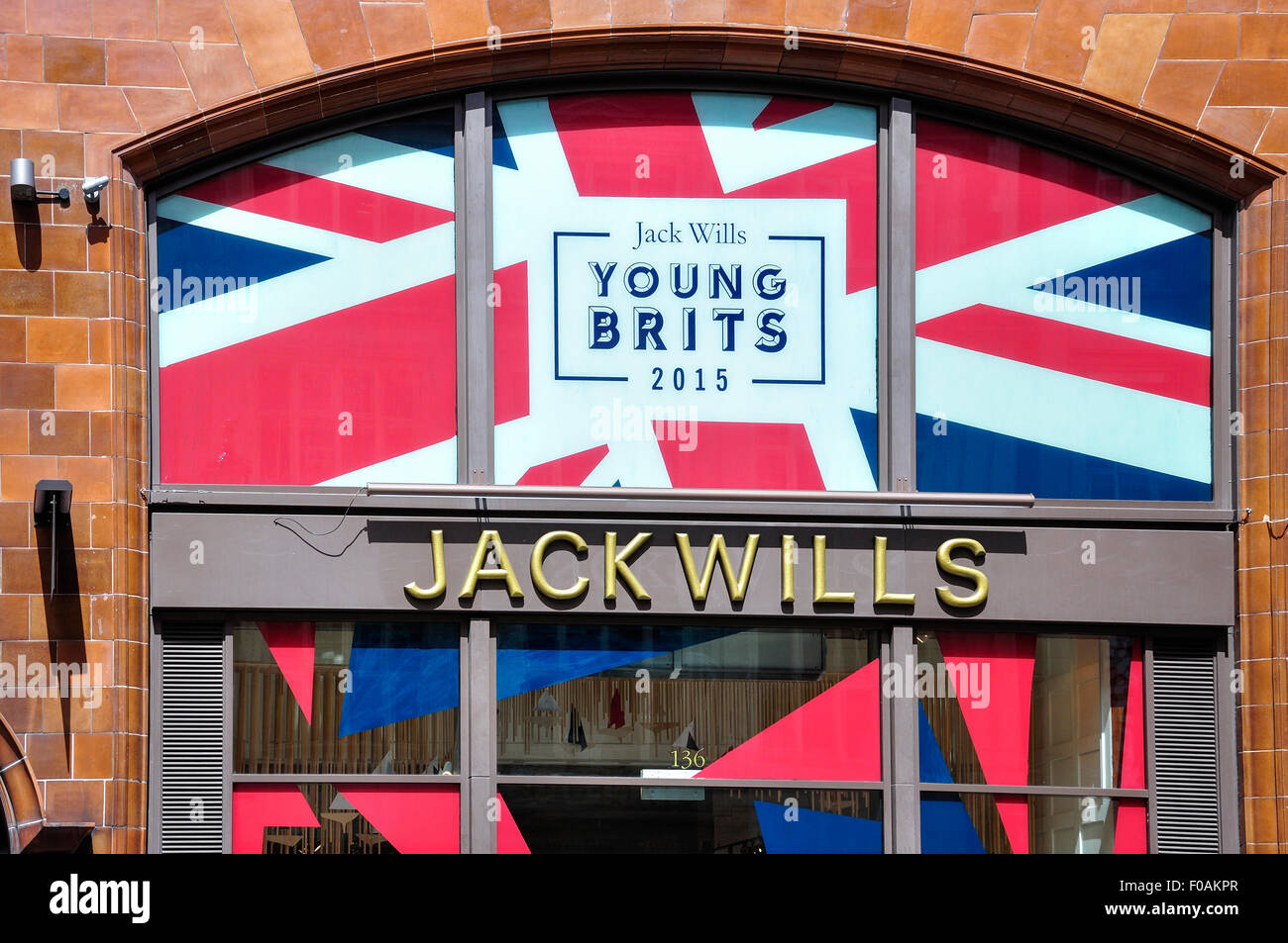 Jack Wills fashion store, Long Acre, Covent Garden, City of Westminster, London, England, United Kingdom - Stock Image