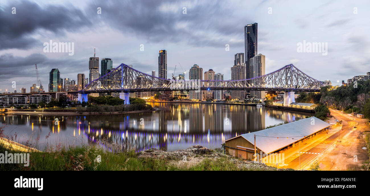 Panoramic view of Brisbane city, Queensland, Australia - Stock Image