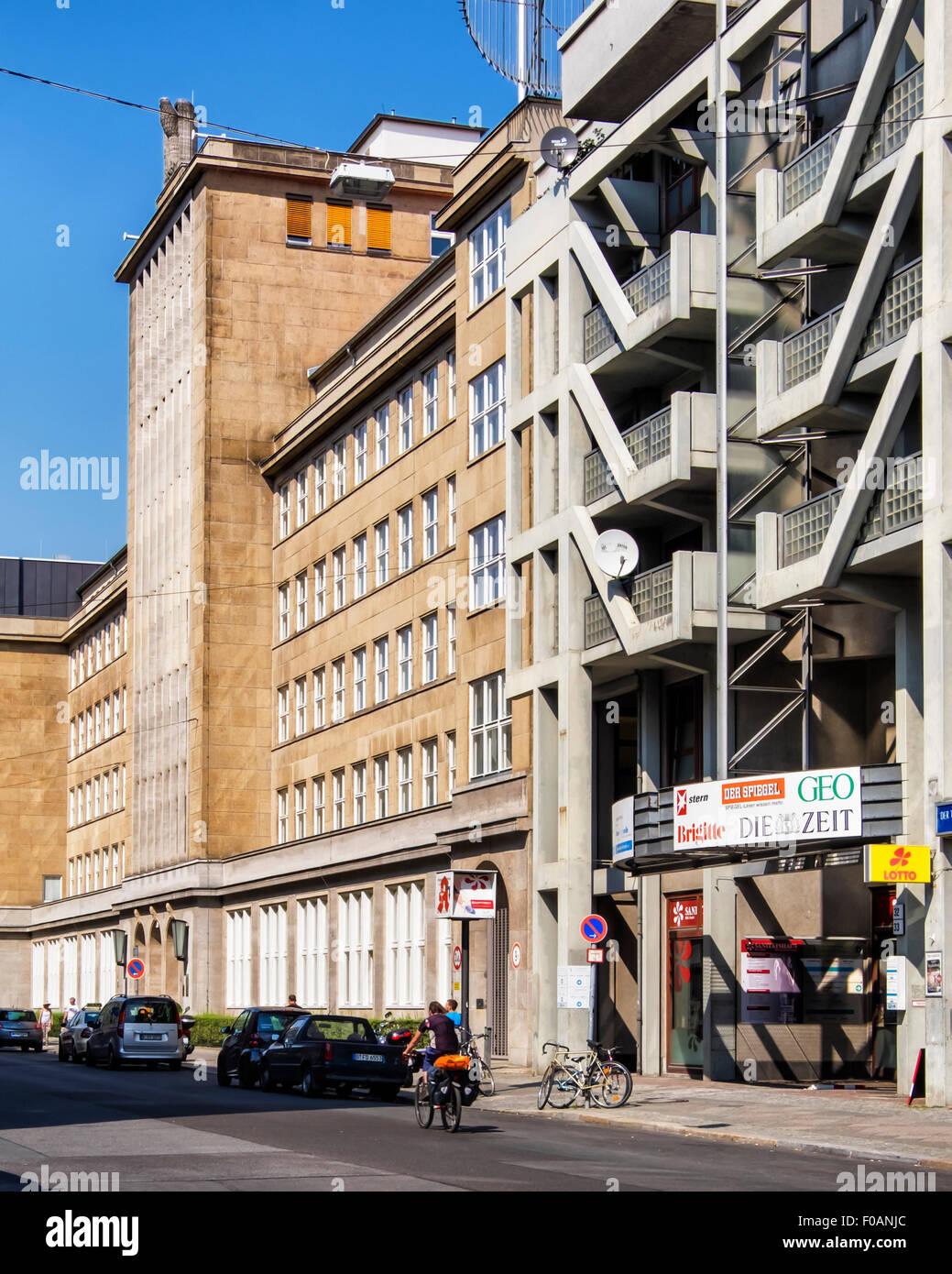 Berlin Employment Agency, Bundesagentur für Arbeit building exterior, Friedrichstrasse Berlin - Stock Image