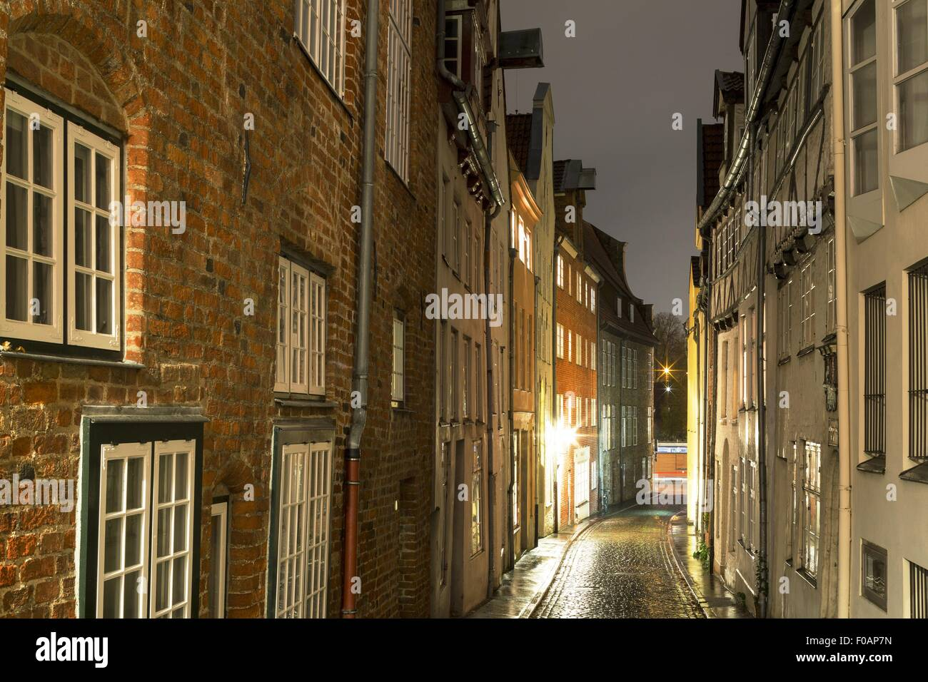 View of Great Peter Grube in evening at Lubeck, Schleswig Holstein, Germany - Stock Image