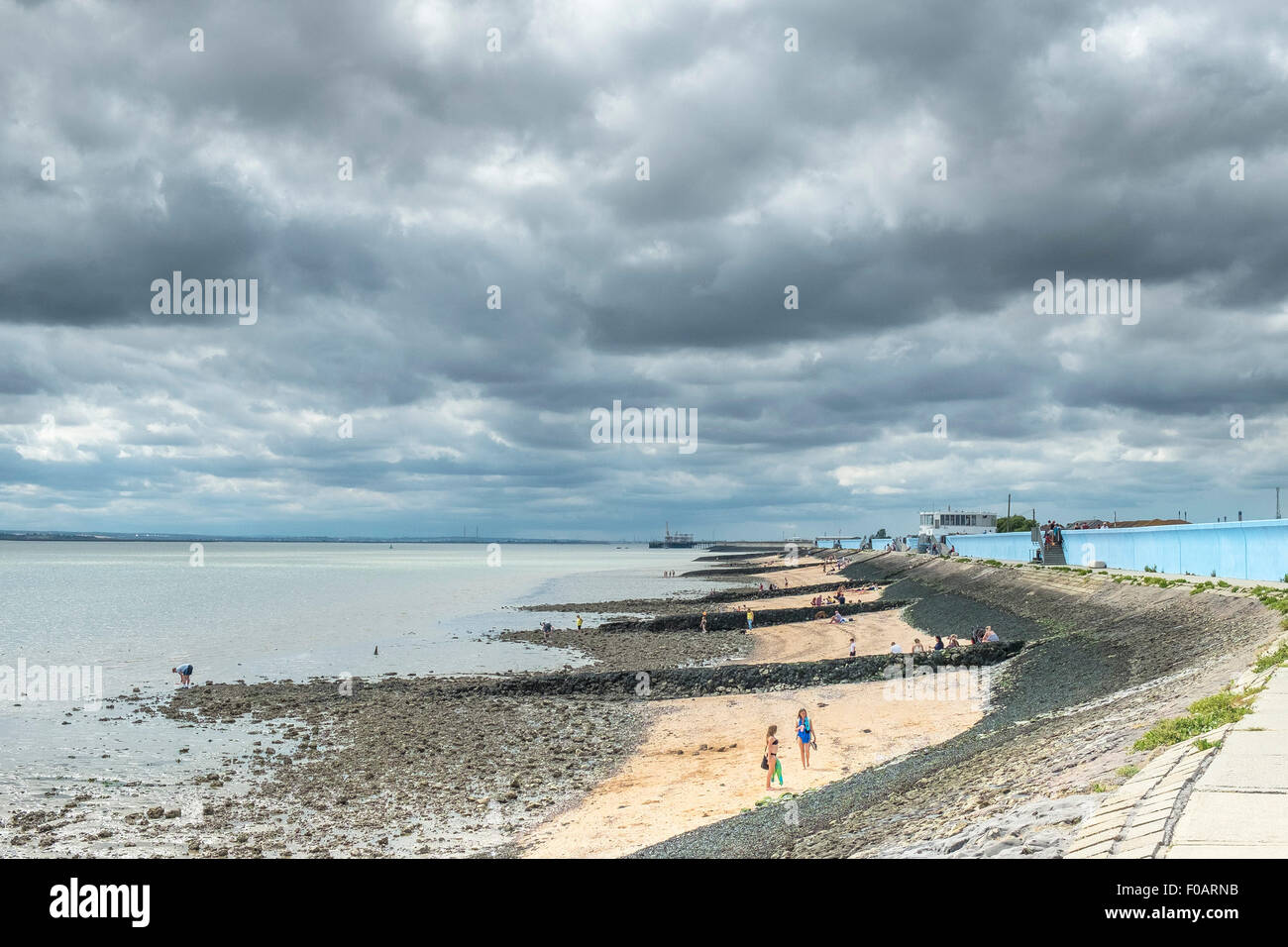 Canvey Island - The foreshore at Canvey Island, Essex. - Stock Image