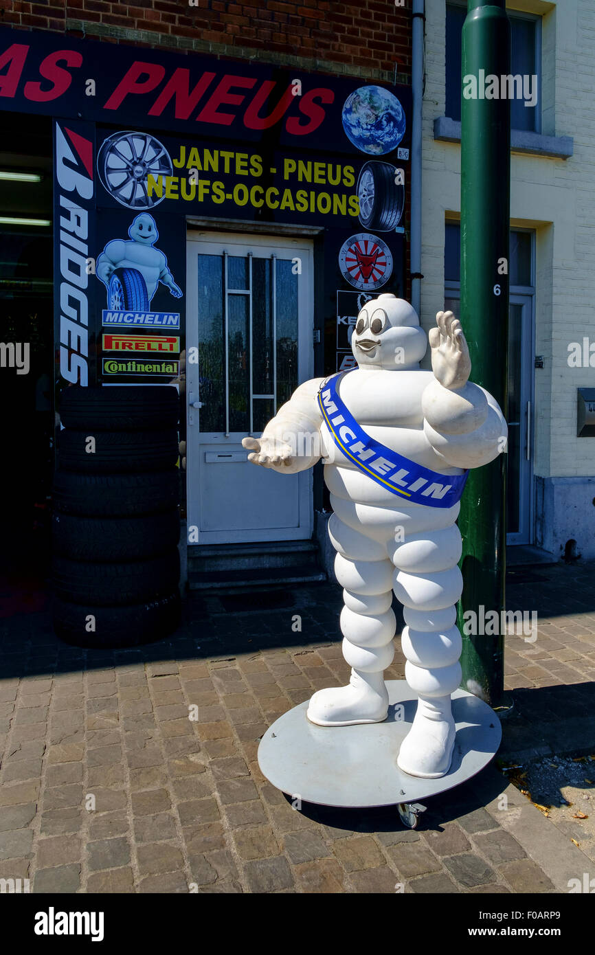 michelin man tyre advertisement figure statue - Stock Image