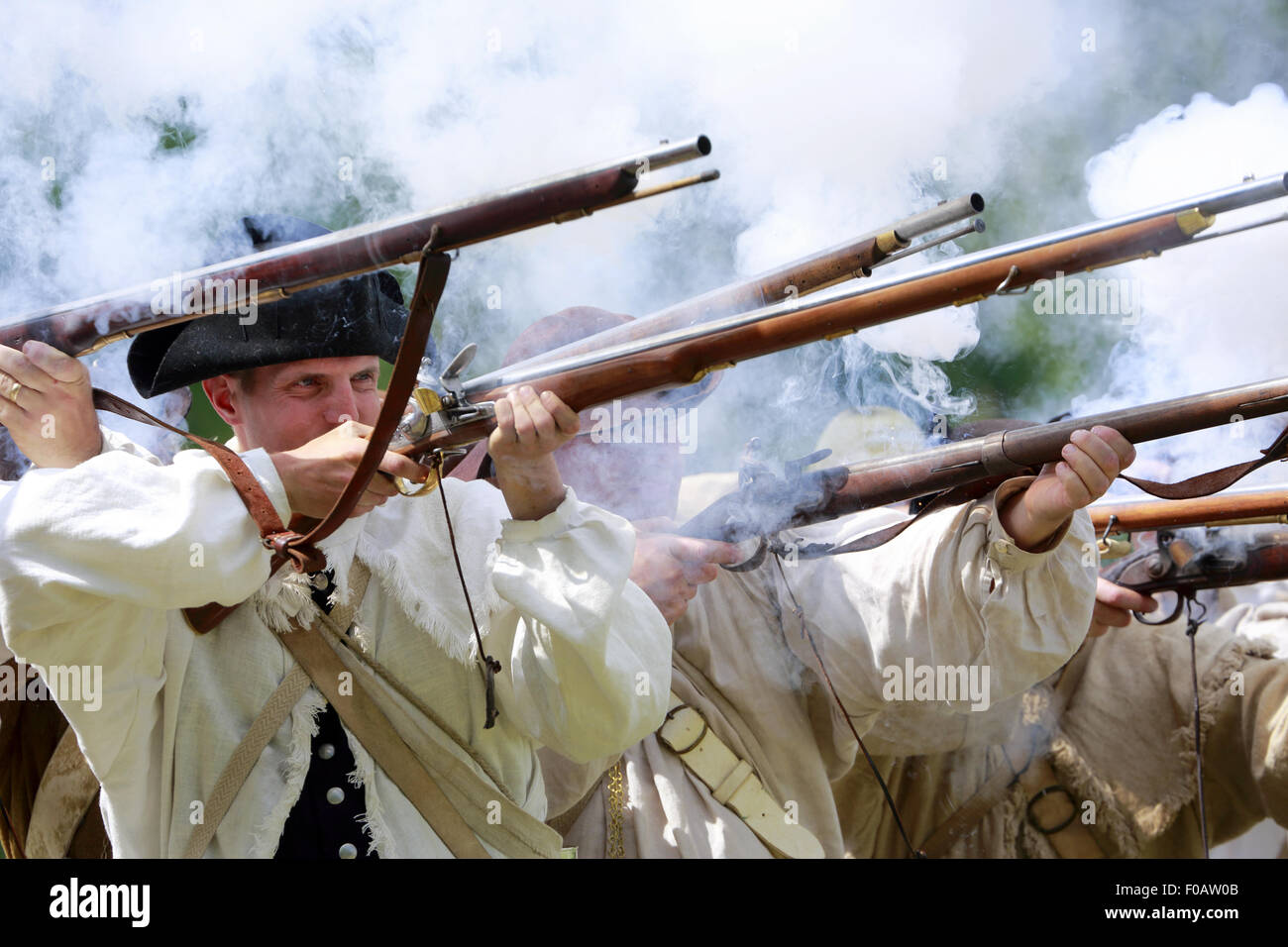 Soldiers Firing Muskets Stock Photos & Soldiers Firing