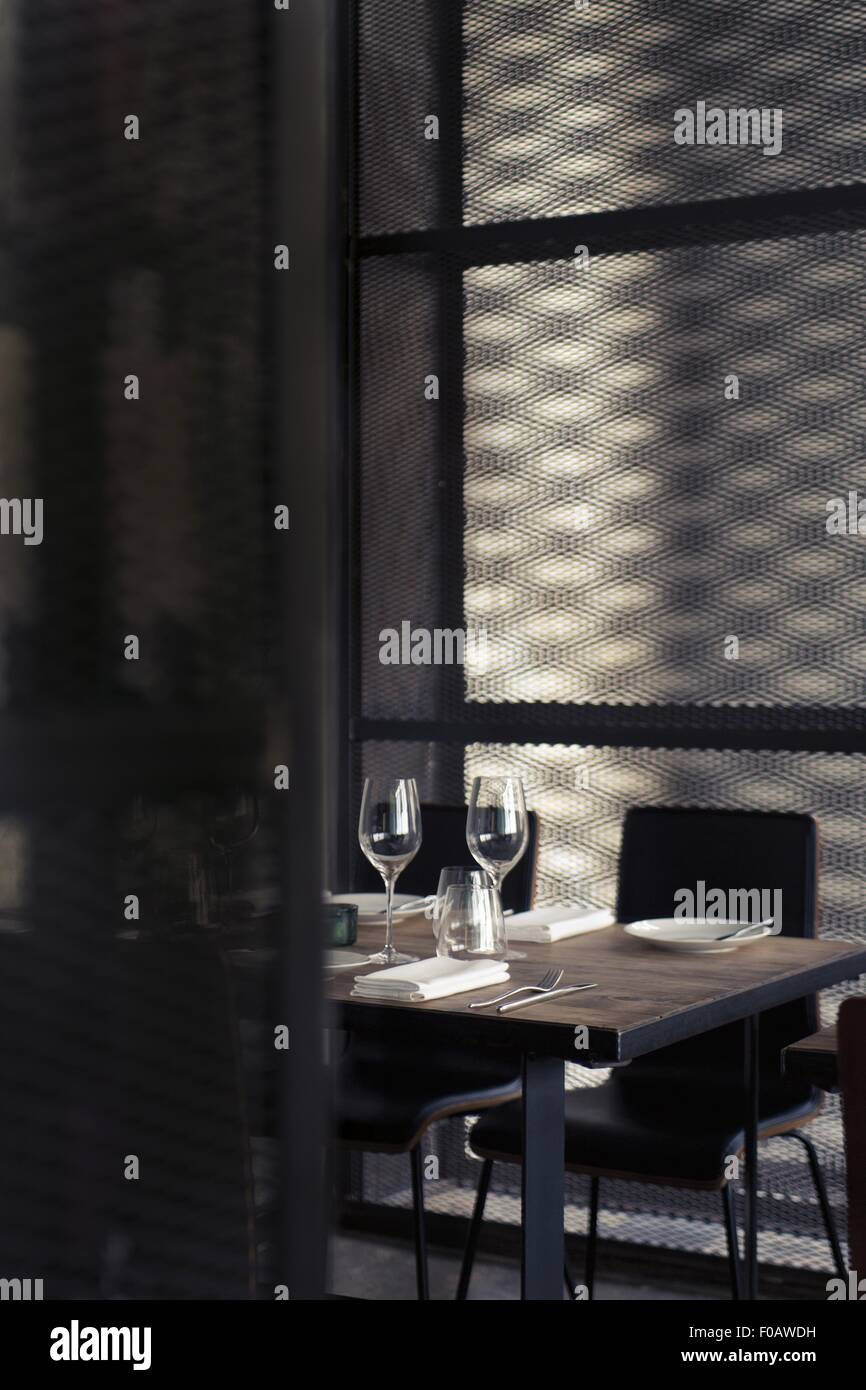 Interior with shimmer in Dabbous restaurant at London - Stock Image