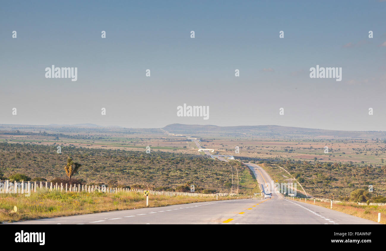 Mexican highways. San Luis Potosi, SLP. Mexico - Stock Image