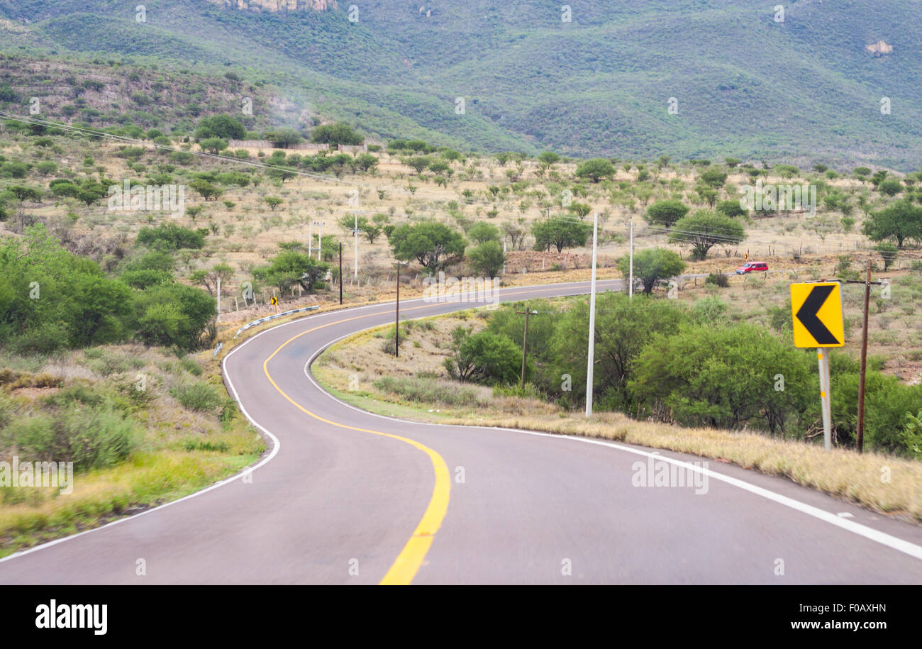 Mexican highways. Zacatecas, ZAC. Mexico - Stock Image