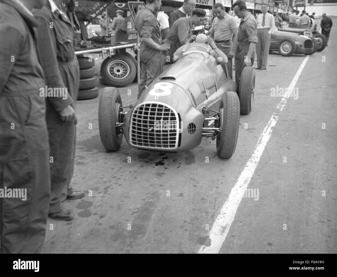 Alberto Ascari in his Ferrari 1949 - Stock Image