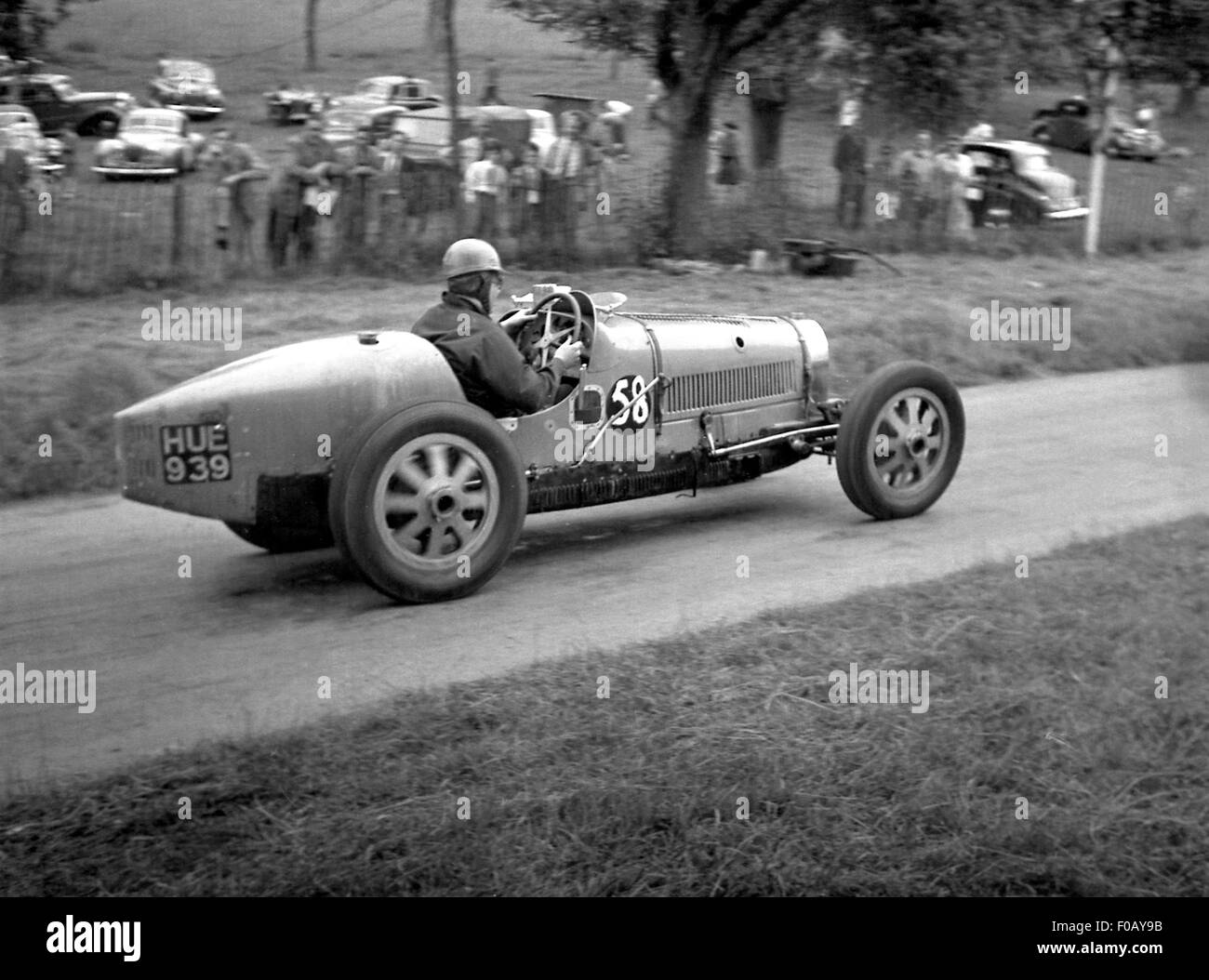 Bugatti racing car at Prescott 1930s - Stock Image