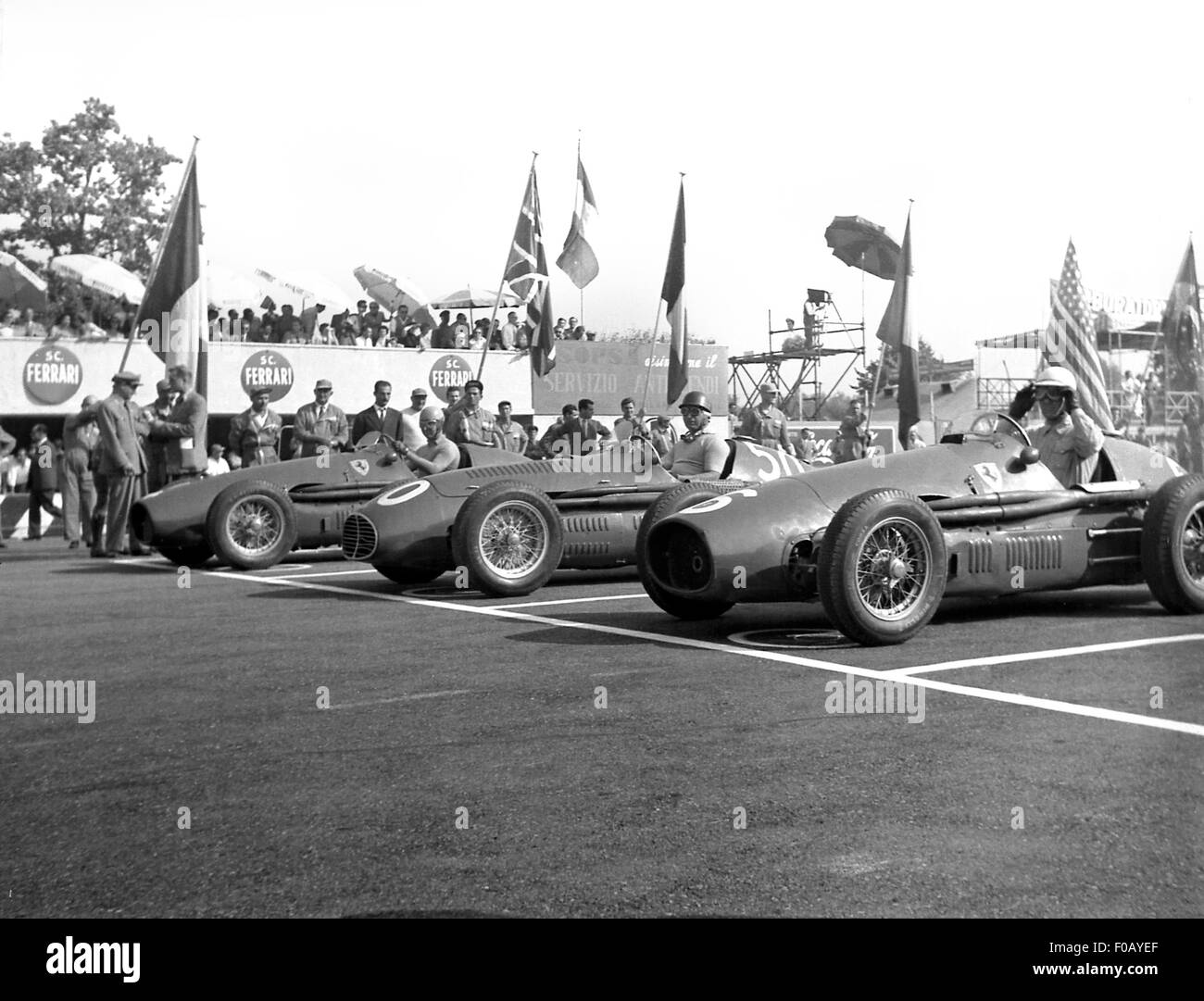Italian GP in Monza 1956 - Stock Image