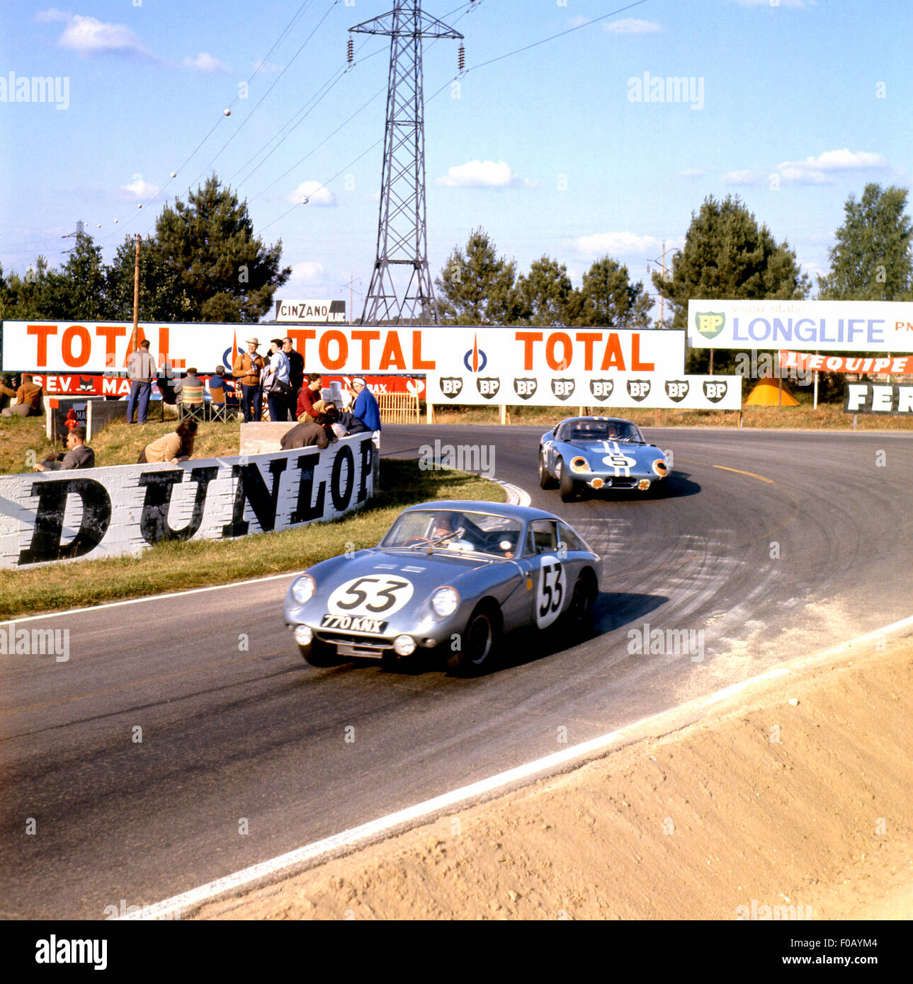 Le Mans 24 Hours 1964. No 53 Clive Baker,William Bradley - Austin-Healy Sebring Sprite, - Stock Image