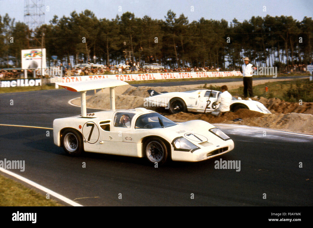 Le Mans 24 Hours Race 11th June 1967. Mike Spence,Phil Hill Chaparral 2F. - Stock Image