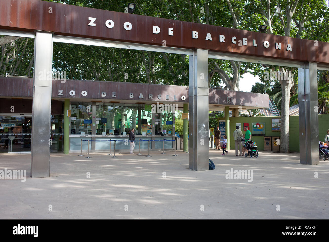 Barcelona Zoo In Catalonia Spain Ticket Office And Entrance Stock Photo Alamy