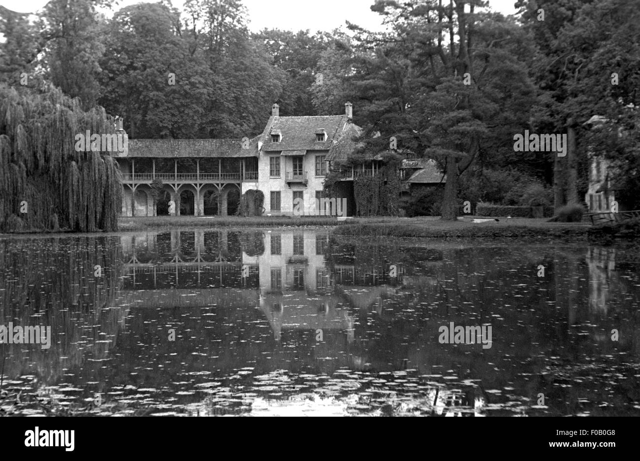 The Queens' hamlet at Versailles - Stock Image