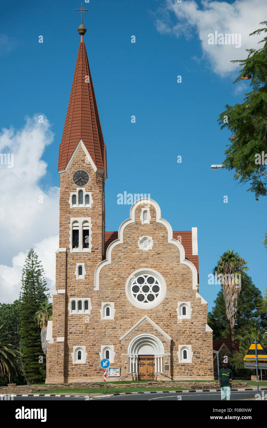 Lutheran Christ Church (Christuskirche), Fidel Castro Street, Windhoek (Windhuk), Khomas Region, Republic of Namibia - Stock Image