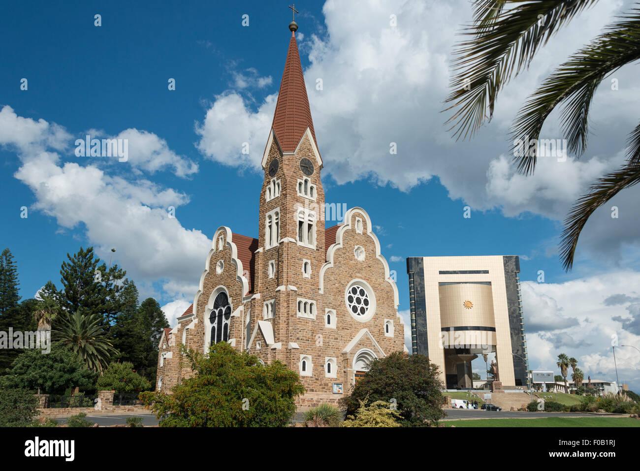 Christ Church (Christuskirche) and National Museum, Fidel Castro Street, Windhoek (Windhuk), Khomas Region, Republic Stock Photo