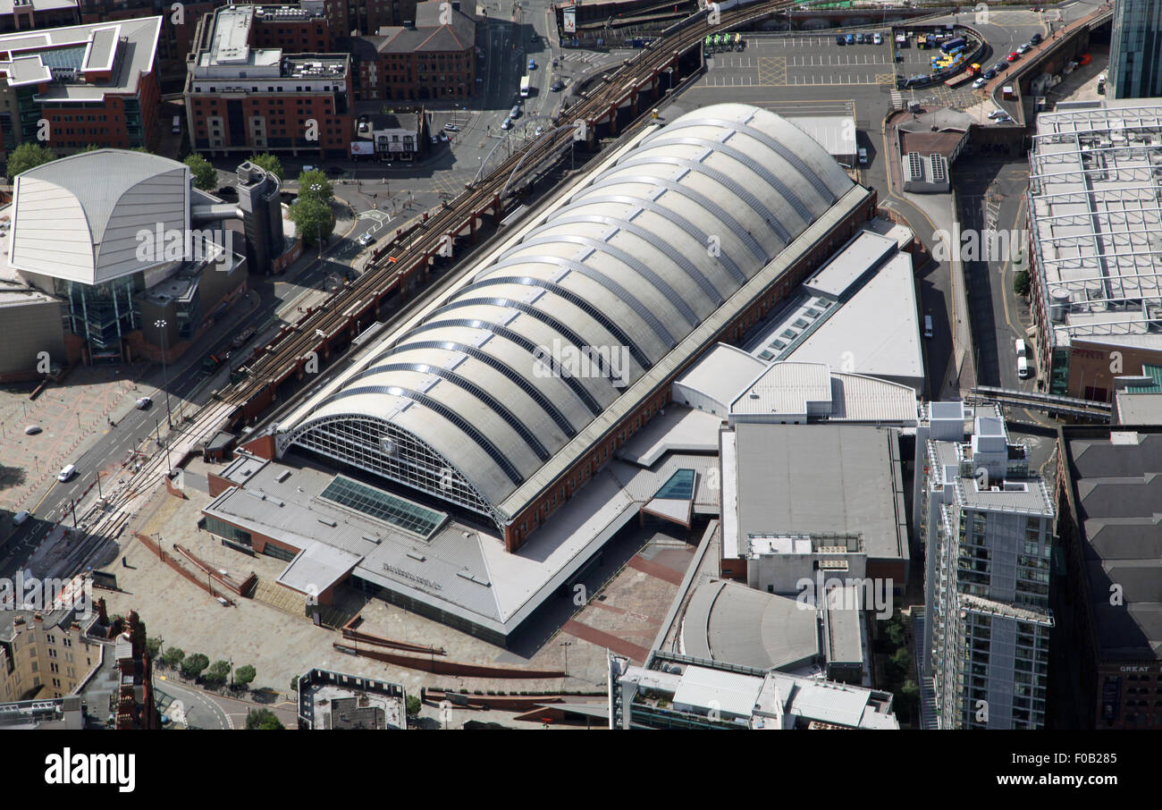 aerial view of Manchester Central Convention Complex, or GMEX, in Manchester - Stock Image