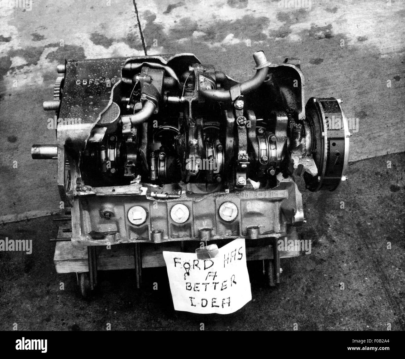 a blown ford v8 engine 1968 - stock image